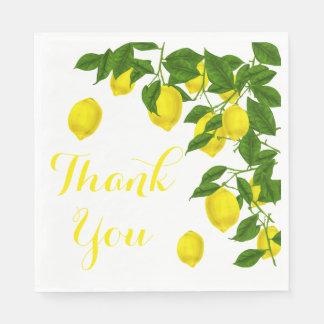 黄色はレモン緑の結婚披露宴感謝していしています スタンダードランチョンナプキン