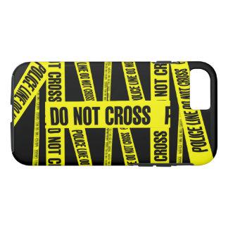黄色は犯罪現場テープ危険区域を交差させません iPhone 8/7ケース