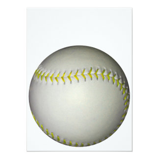 黄色は野球/ソフトボールをステッチします 14 X 19.1 インビテーションカード