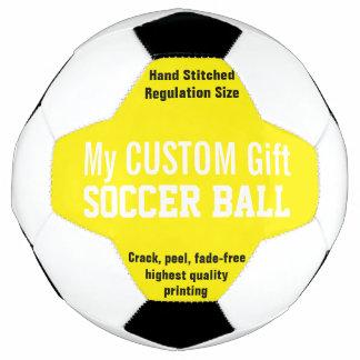 黄色を個人化する習慣によって印刷されるサッカーボール サッカーボール