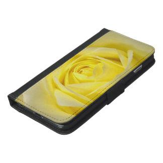 黄色バラのクローズアップ iPhone 6/6S PLUS ウォレットケース