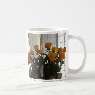 黄色バラのコーヒーカップ コーヒーマグカップ