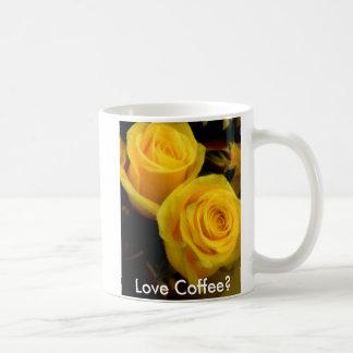 黄色バラのコーヒー・マグ コーヒーマグカップ
