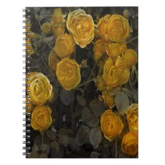 黄色バラのノート ノートブック