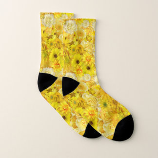 黄色バラの友情の花束のガーベラのデイジー ソックス