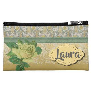 黄色バラの最も最高のな新婦付添人のギフト コスメティックバッグ