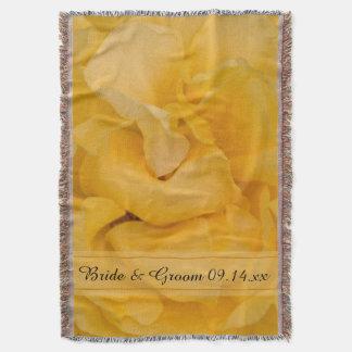 黄色バラの花の結婚式 スローブランケット