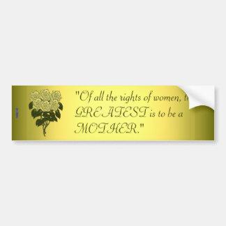 黄色バラの花束(母の日) バンパーステッカー