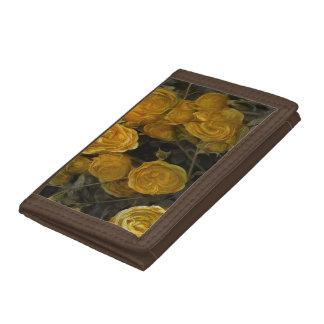 黄色バラの財布