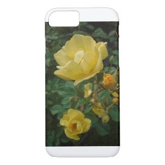 黄色バラのbohoの花の女性6のiphoneの場合 iPhone 8/7ケース