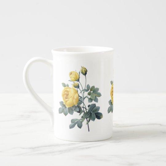 黄色バラのRedouteの骨灰磁器のマグ ティーカップ
