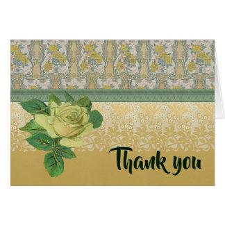 黄色バラはノート感謝していしています カード