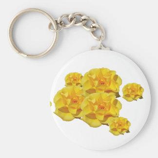 黄色バラはkeychain咲きます キーホルダー