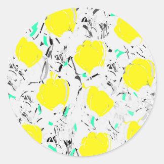 黄色バラ2 ラウンドシール
