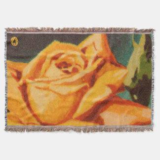 黄色バラ スローブランケット
