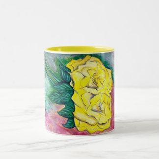 黄色バラ ツートーンマグカップ