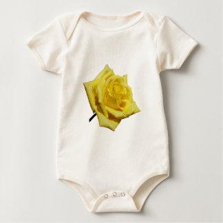 黄色バラ ベビーボディスーツ