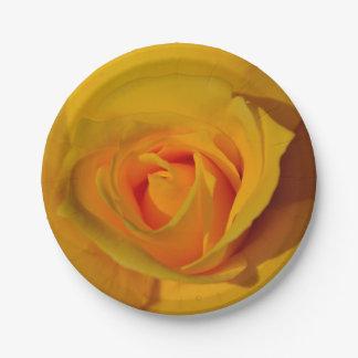 黄色バラ ペーパープレート