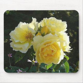 黄色バラ マウスパッド