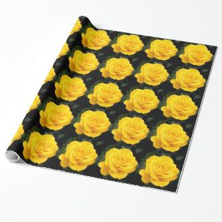 黄色バラ ラッピングペーパー