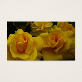 黄色バラ 名刺