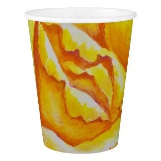 黄色バラ 紙コップ