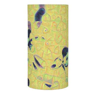 黄色モザイク抽象芸術のフラクタルの鮮やかなデザイン LEDキャンドル