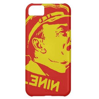 黄色及び赤いレーニンの共産主義者のアートワーク iPhone5Cケース