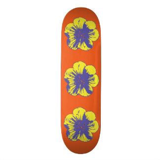 """黄色及び青の60年代によっては8 1/2が""""スケートボード開花します スケートボード"""