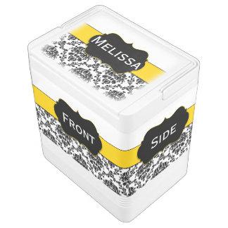 黄色及び黒いダマスク織のイグルーの食糧及び飲み物のクーラー IGLOO クーラーボックス