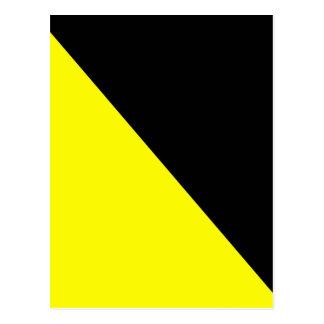 黄色及び黒いAnarchoの資本主義の旗 ポストカード