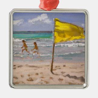 黄色旗バルバドス2010年 メタルオーナメント