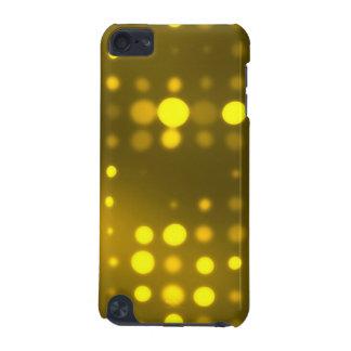 黄色灯の水玉模様パターン iPod TOUCH 5G ケース