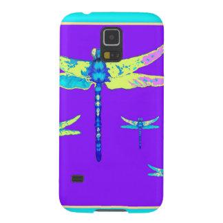 黄色紫色の神秘的なトンボ GALAXY S5 ケース
