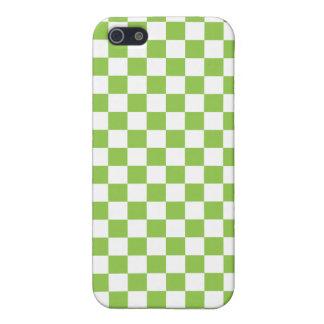 黄色緑のチェッカーボードパターン iPhone 5 ケース