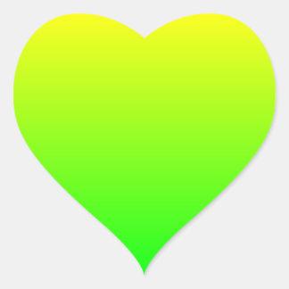 黄色緑の勾配 ハートシール