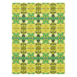 黄色緑の抽象芸術パターン テーブルクロス