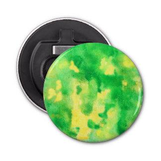 黄色緑の水彩画の栓抜き 栓抜き