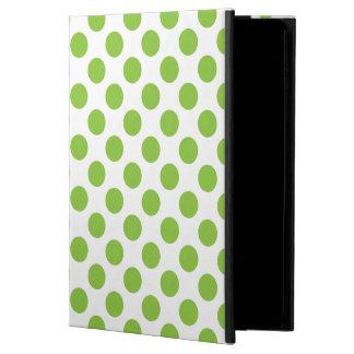 黄色緑の水玉模様 POWIS iPad AIR 2 ケース