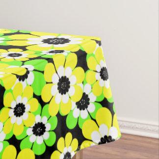 黄色緑は、花、花パターン開花します、 テーブルクロス