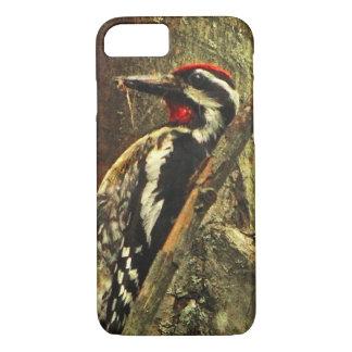 黄色膨らまされたSapsuckerの鳥のiPhone 7の場合 iPhone 8/7ケース