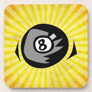 黄色8の球 コースター