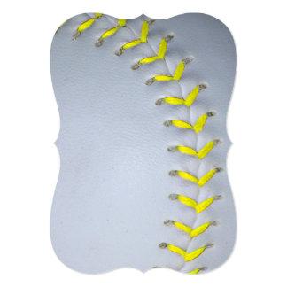 黄色 ステッチ 野球 / ソフトボール カスタム案内状