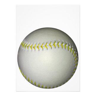 黄色 ステッチ 野球 ソフトボール パーソナル案内状