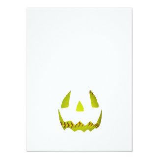 黄色|ソフトボール|ジャック|O'Lantern|顔 14 X 19.1 インビテーションカード