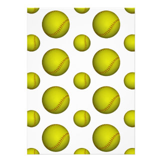 黄色 ソフトボール 野球 パターン カスタム招待状