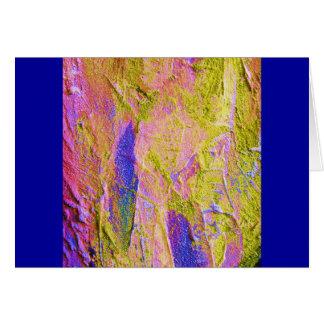 黄色 ピンク 青い クラッシュ III カード - カスタマイズ可能 グリーティングカード