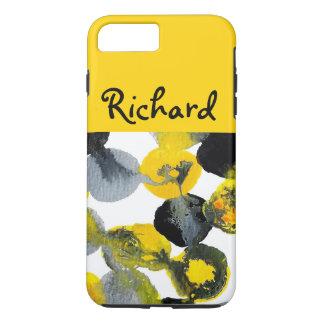 黄色、灰色および黒いIntertactions iPhone 7 Plusケース