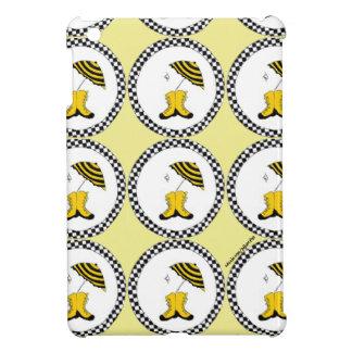 黄色、白黒春雨 iPad MINIケース