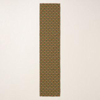 黄色、緑、赤い、黒人のアフリカ人のKenteの布 スカーフ